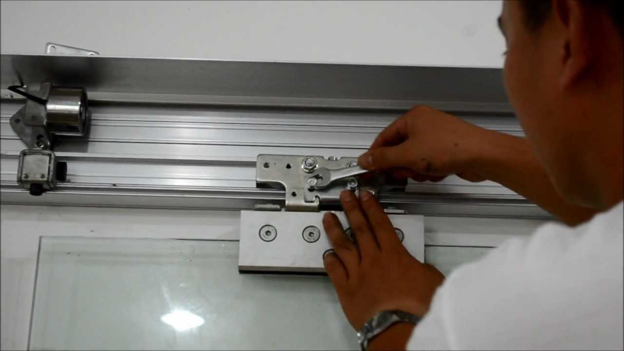 Man repair automatic doors